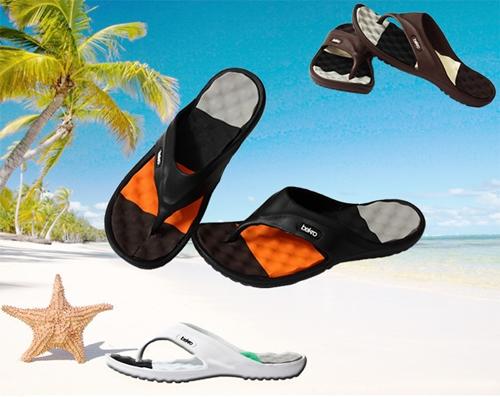 รองเท้าแตะ สำหรับท่าน ผู้ชาย สี ส้ม/ดำ