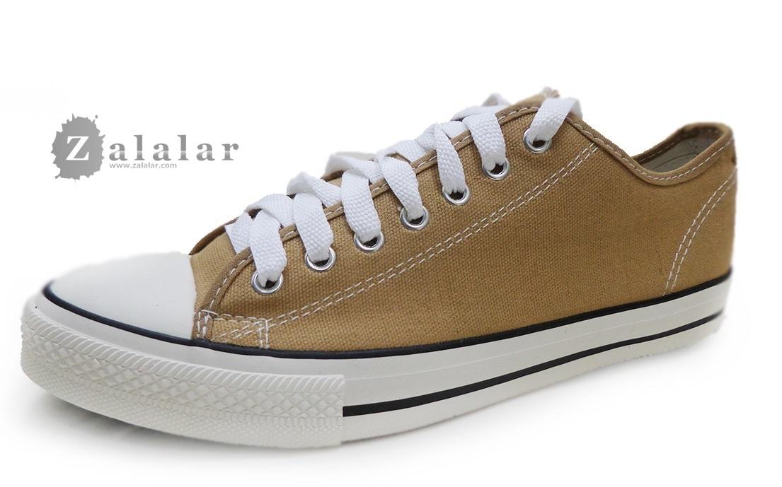 [พร้อมส่ง]รองเท้าผ้าใบแฟชั่น สีกากี รุ่น 191