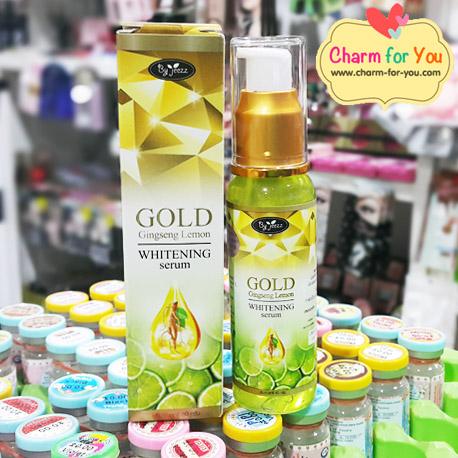 เซรั่มโสมมะนาวทองคำ by jeezz GOLD Gingseng Lemon Whitening Serum ราคา 3 ขวด ขวดละ 90 บาท /6 ขวด ขวดละ 80 บาท/12 ขวด ขวดละ 70 บาท ขายเครื่องสำอาง อาหารเสริม ครีม ราคาถูก ปลีก-ส่ง