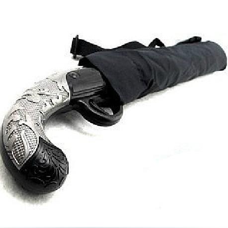 ร่มด้ามปืนสั่นโบราณ (Classic Gun Handle Black Umbrella)
