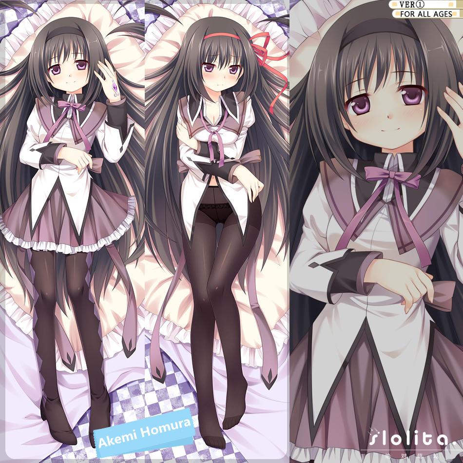 Puella Magi Madoka Magica Akemi Homura Hugging Body Pillow Case Cover 160*50cm