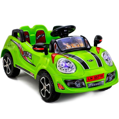 รถแบต JUSTICE สีเขียว