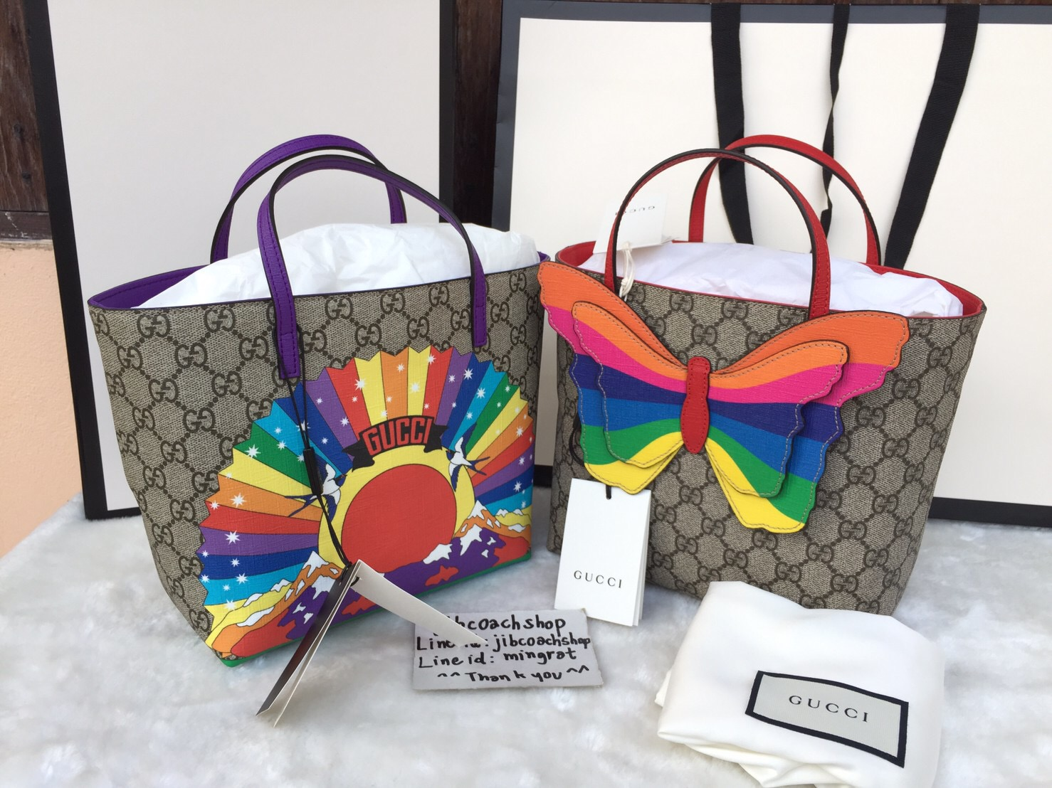 82da42aab12d พร้อมส่ง Gucci GG Butterfly Tote - jibcoachshop : Inspired by ...