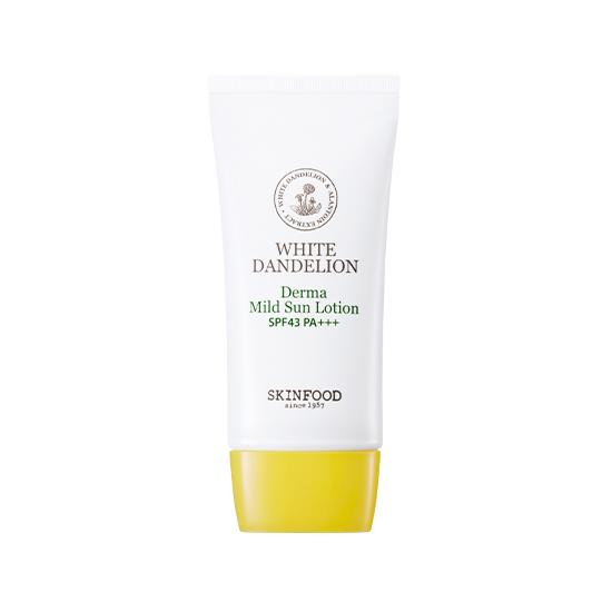 SkinFood White Dandelion Derma Mild Sun Lotion SPF43 PA+++ 50g