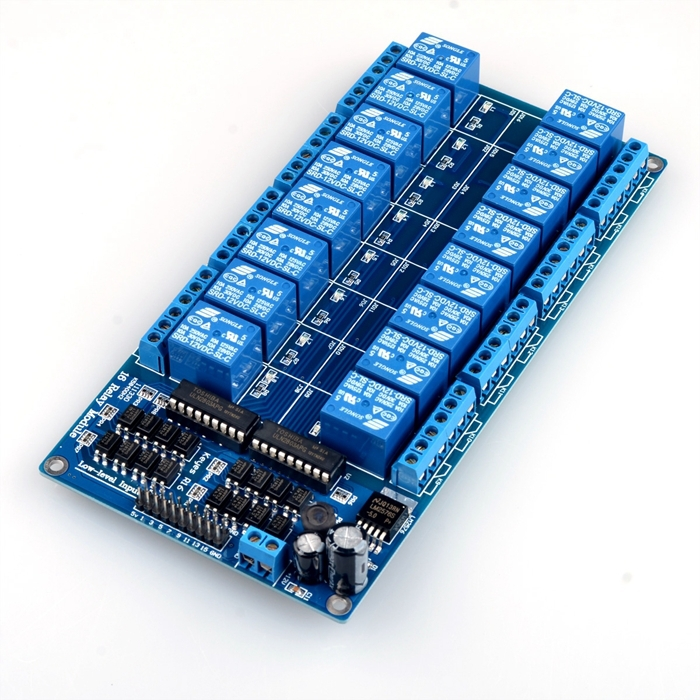 16 Channel Relay (10A) with Optocoupler Module
