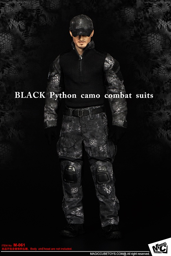 MC TOYS M-061 BLACK Python camo combat suits