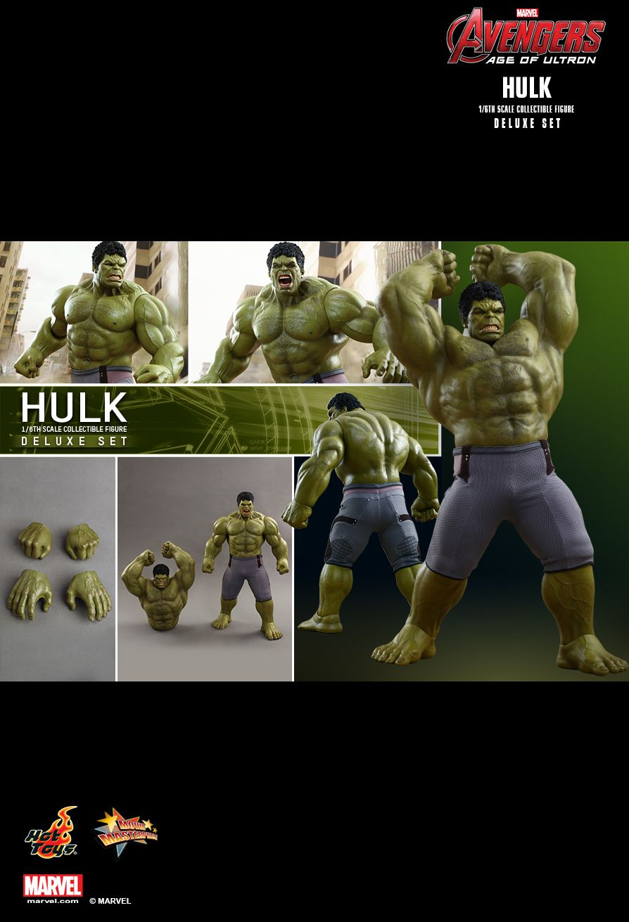 Hot Toys MMS287 AVENGERS: AGE OF ULTRON - HULK DELUXE SET