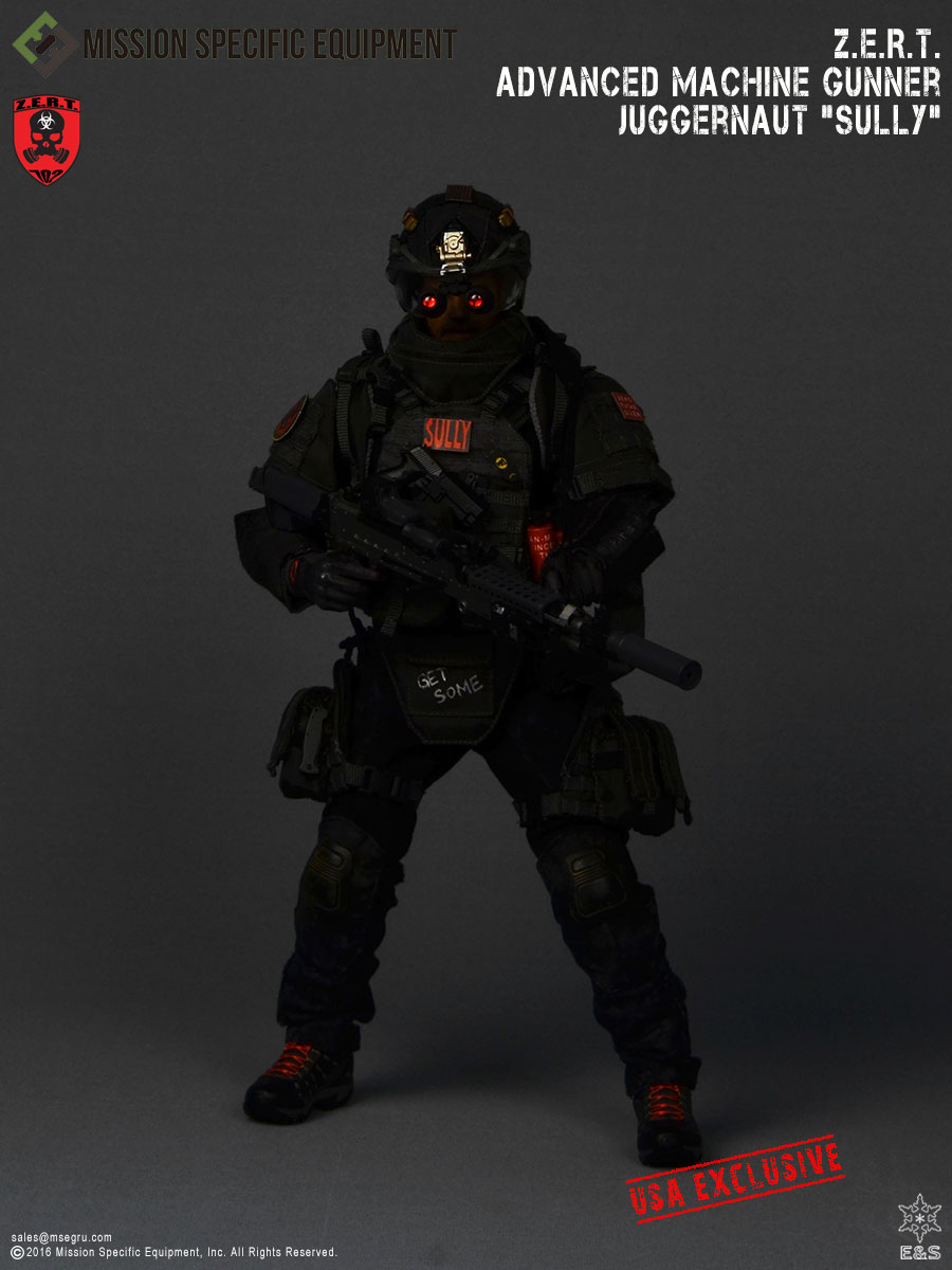 "MSE 1/6 Z.E.R.T. Advanced Machine Gunner Juggernaut: ""SULLY"" USA VERSION"