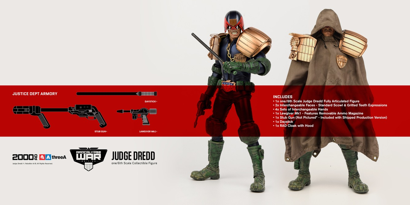ThreeA x 2000AD 1/6 Apocalypse War - Judge Dredd
