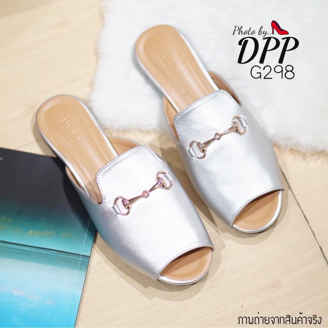 รองเท้า Gucci Slipper (สีเงิน)