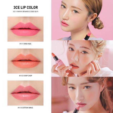 *พร้อมส่ง*3CE x Barbapapa Matte Lip Color ลิปแมทและลิปกึ่งวาวกึ่งแมทสีสวยในแพกเกจจิ้ง Barbapapa ตามคอนเซ็ปต์ *น่ารักสดใสอ่อนหวาน เนื้อสีแน่นคมชัดไม่หลุดง่ายระหว่างวัน ,