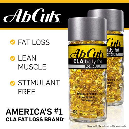 *พร้อมส่ง*Ab Cuts CLA Belly Fat Formula 120 softgel กระชับสัดส่วนทั้งตัว..สลายเซลลูไลท์ เน้นลดไขมันหน้าท้อง ตัวช่วยกำจัดไขมันยอดฮิตจากอเมริกา การันตีด้วยยอดขายอันดับหนึ่ง ทานเยอะก็ไม่ต้องกลัวไขมันสะสมถ้าคุณมีขวดนี้ ช่วยดักจับเผาผลาญไขมัน ,