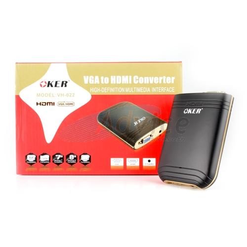"""Converter VGA TO HDMI (AUDIO) """"OKER"""" VH-022"""
