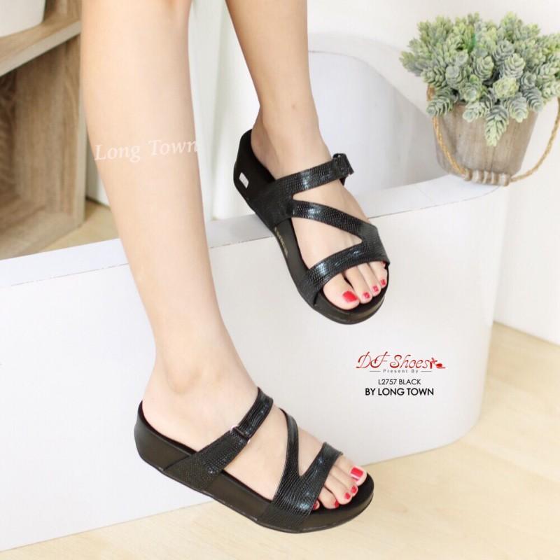 รองเท้าแตะ เพื่อสุขภาพ สไตล์ฟิตฟลอป (สีดำ )
