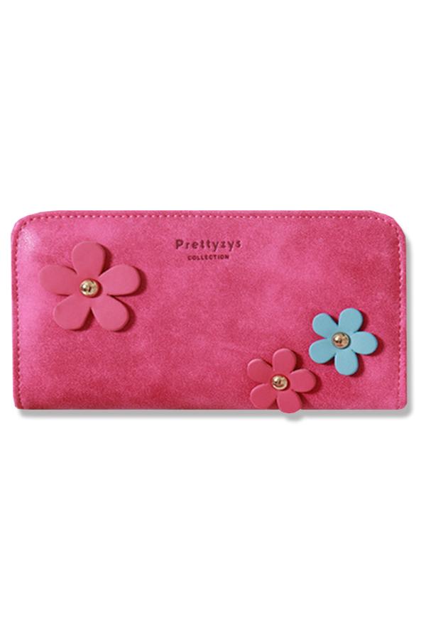 กระเป๋าสตางค์ผู้หญิง ทรงยาว รุ่น Prettyzys - Hot Pink
