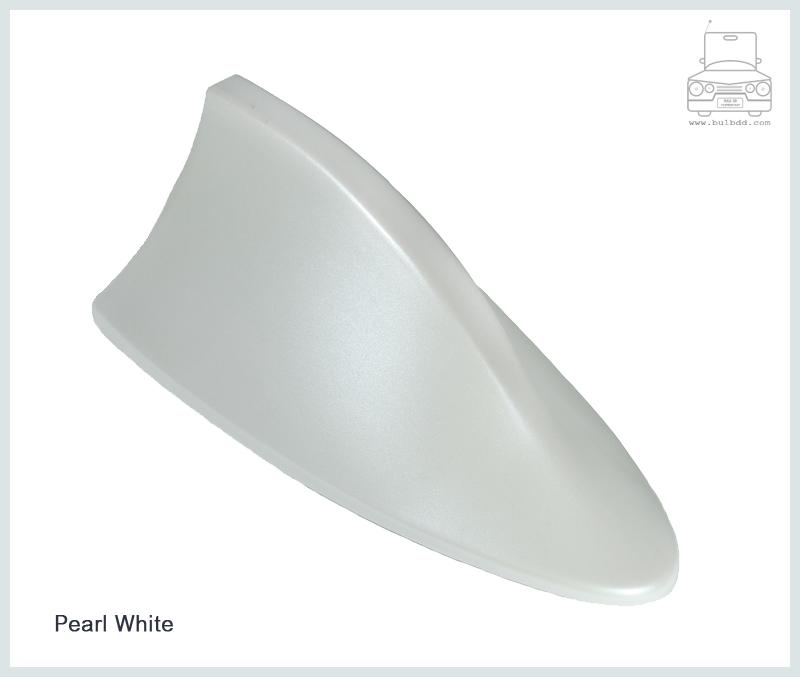 เสาวิทยุครีบฉลาม สีขาวมุก (Pearl White)