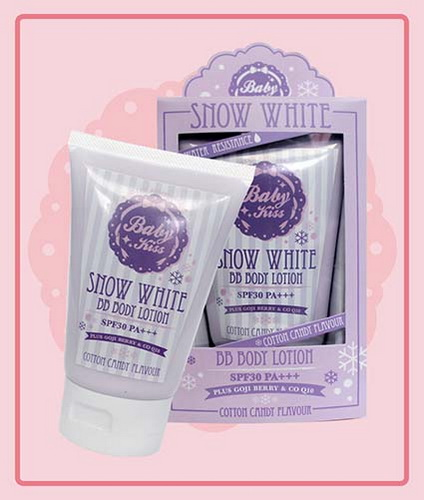Baby Kiss Snow White BB body lotion