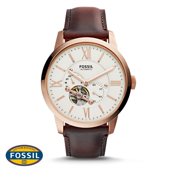 นาฬิกา FOSSIL ME3105 Men Watch Automatic Movement Leather Strap 44 mm