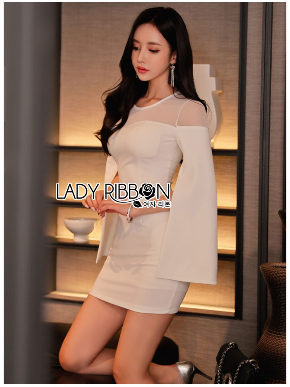 🎀 Lady Ribbon's Made 🎀 Lady Claire Sexy & Classy White Body-Con Dress