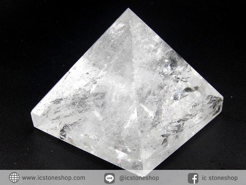 หินทรงพีระมิค-ควอตซ์ใส Clear Quartz (154g)