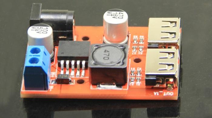 Dual USB output DC-DC Step Down Power Module 6-40v to 5V USB 3A
