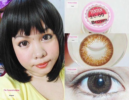 คอนแทคเลนส์สีน้ำตาล เนียนตา French Extra TenTen Brown Dia.14