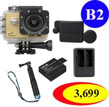 X1000+Extra Battery +Dual Charger +Protective Lens+ TMC Selfie (Blue Color)