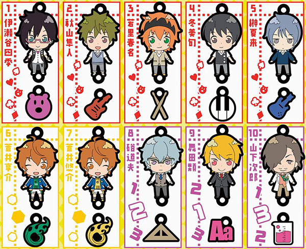 THE IDOLM@STER SideM - Chara Raba-rubber Part.2 10Pack BOX (CANDY TOY)(Pre-order)