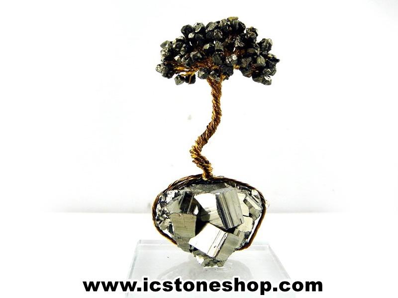 ▽ต้นไม้มงคล หินไพไรต์ เพชรหน้าทั่งใช้เสริมฮวงจุ้ย โต๊ะทำงาน (148g)