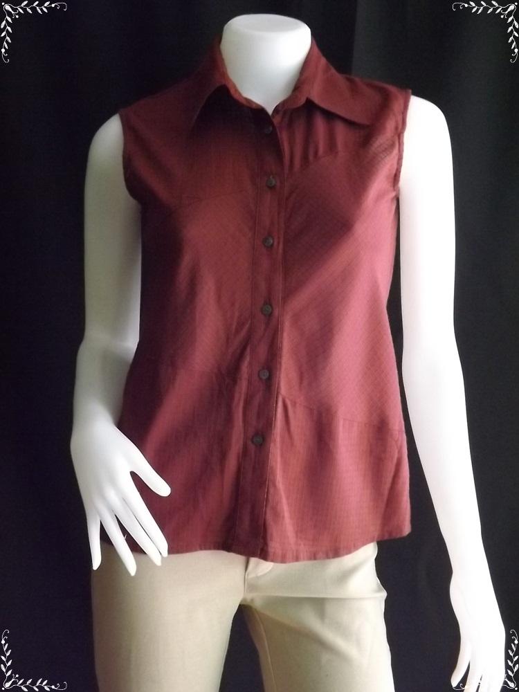 """jp1007-เสื้อแฟชั่น สีแดงเข้ม นำเข้า K.Garcon """"อก 33 นิ้ว"""""""