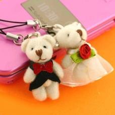 พวงกุญแจคู่รัก ชุดหมีแต่งงาน มี 2 ชิ้น