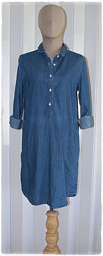 Muji denim shirt dress