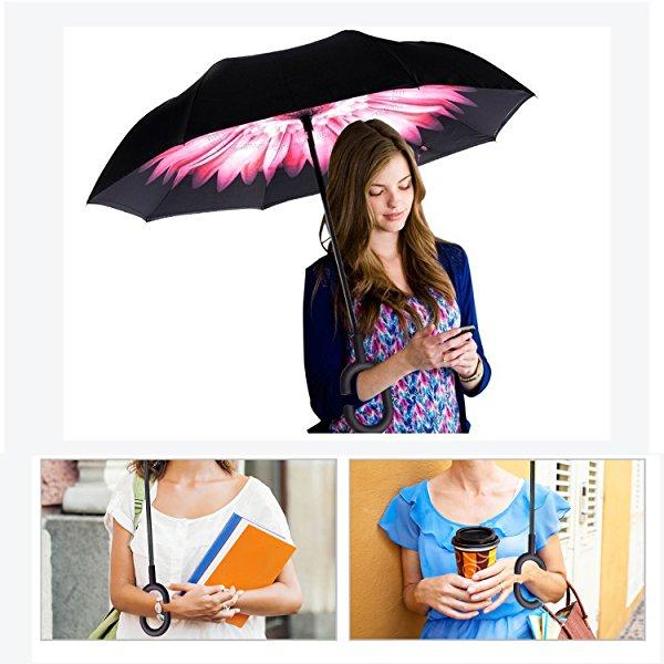 ร่มกลับด้าน ร่มนวัตกรรมใหม่ ป้องกันแดดและฝน