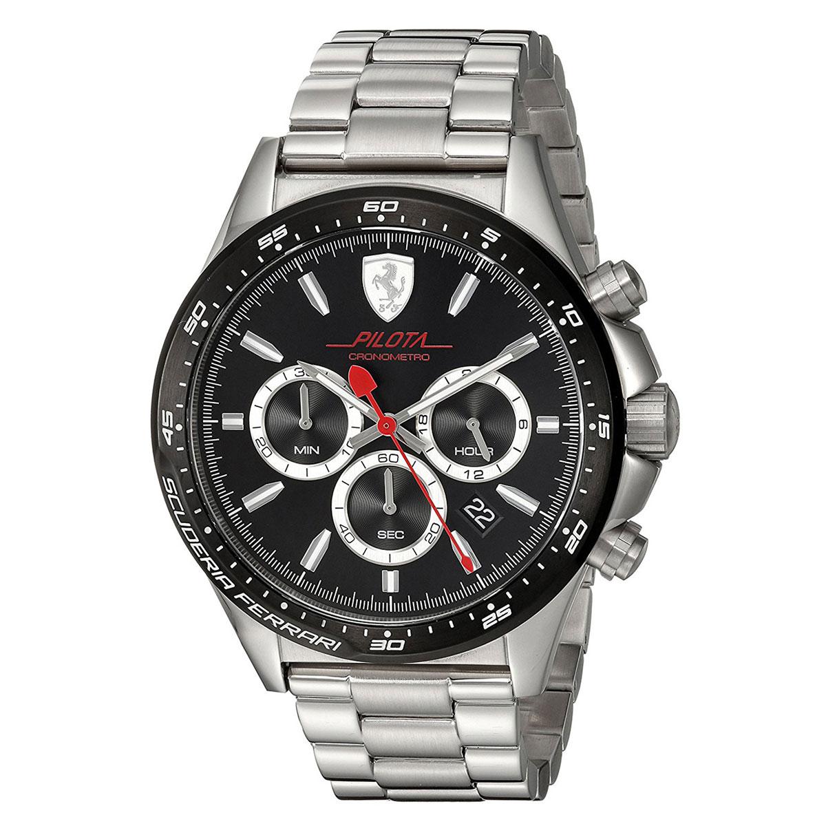 นาฬิกาผู้ชาย Ferrari รุ่น 0830393, Pilota Chronometro