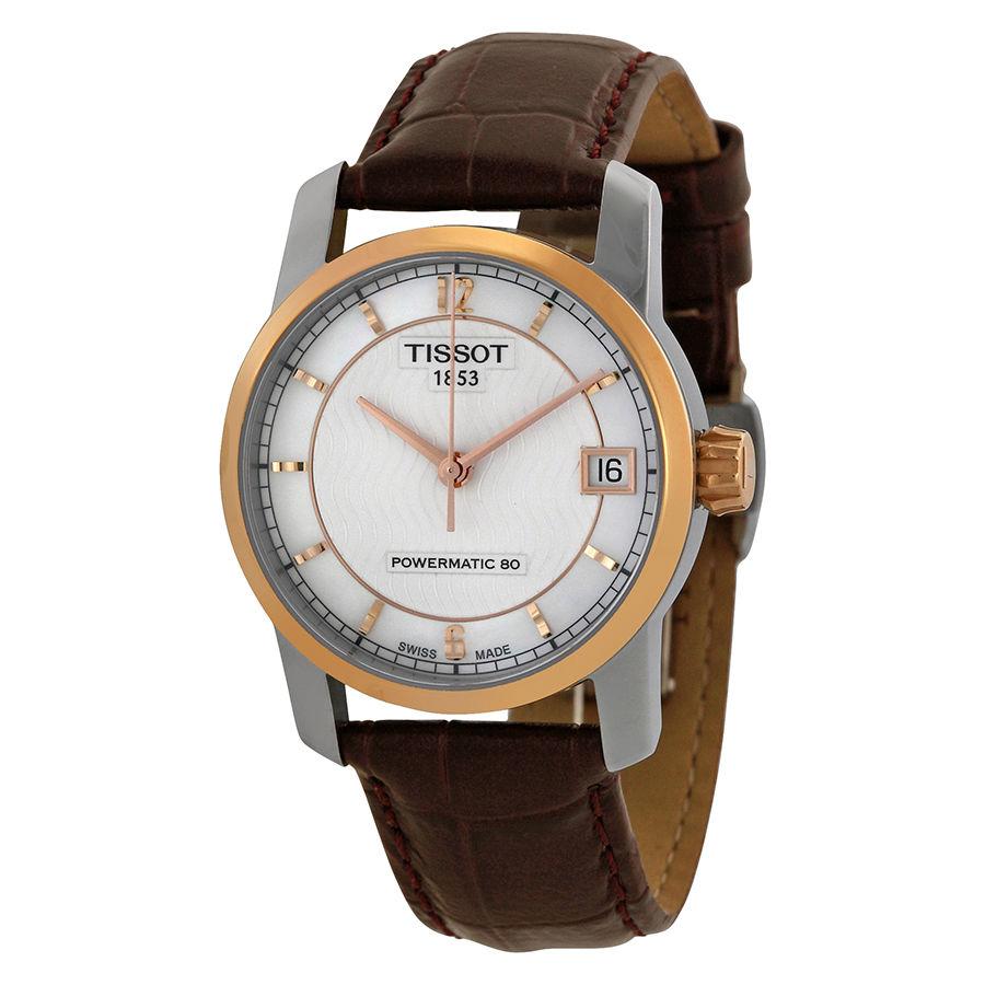 นาฬิกาผู้หญิง Tissot รุ่น T0872075611700, Titanium Powermatic 80
