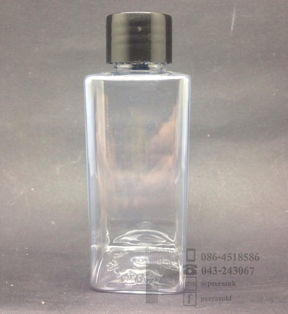 SB120 ml ใส+จุกรู+ฝาเกลียวดำ แพคละ 10 ชิ้น