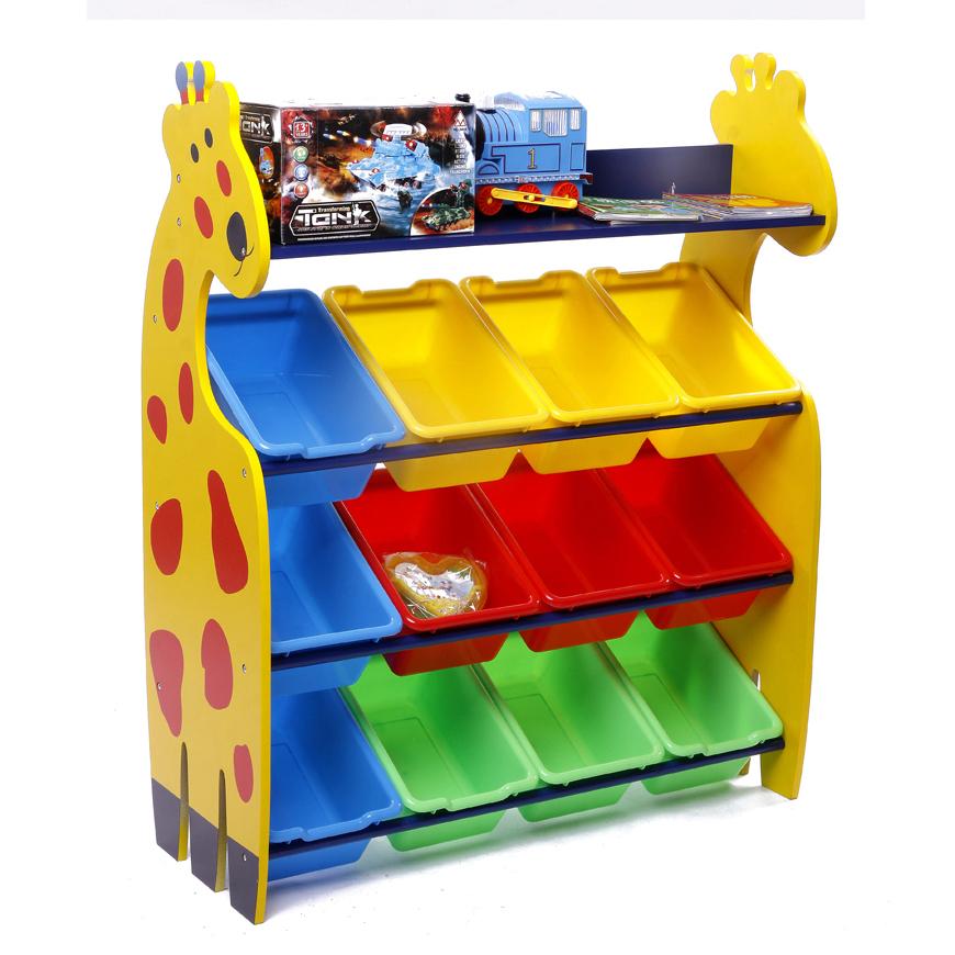 Giraffe Keeping Toy ชั้นวางของเล่น ยีราฟ 4 ชั้น กระบะเล็ก 12 ใบ