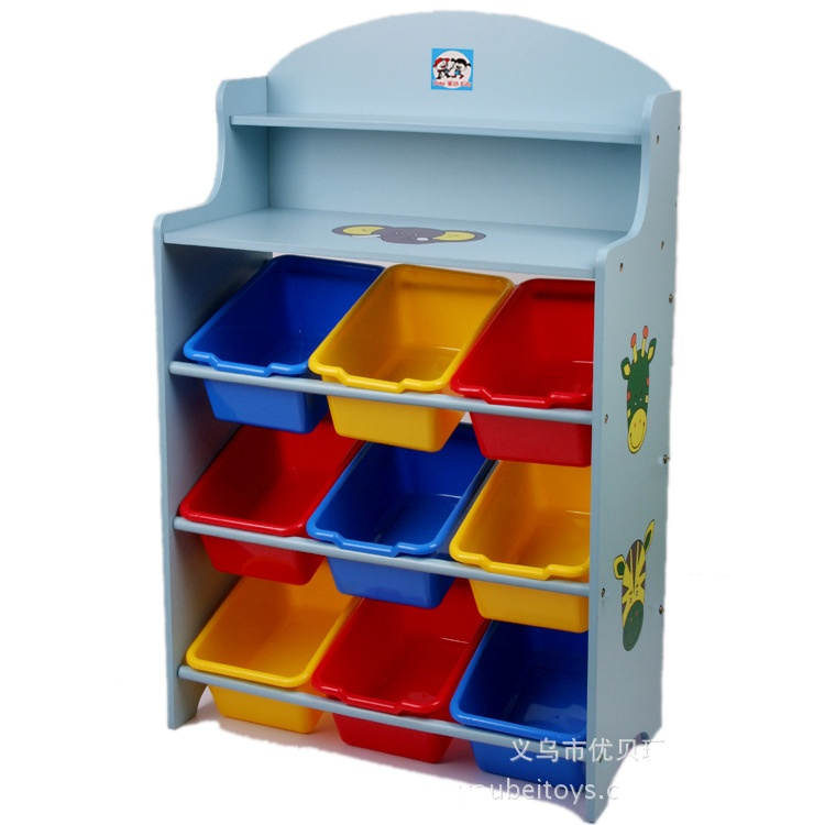 ชั้นวางของ ที่เก็บของเล่นเด็ก Animal Keeping Toy สีฟ้า