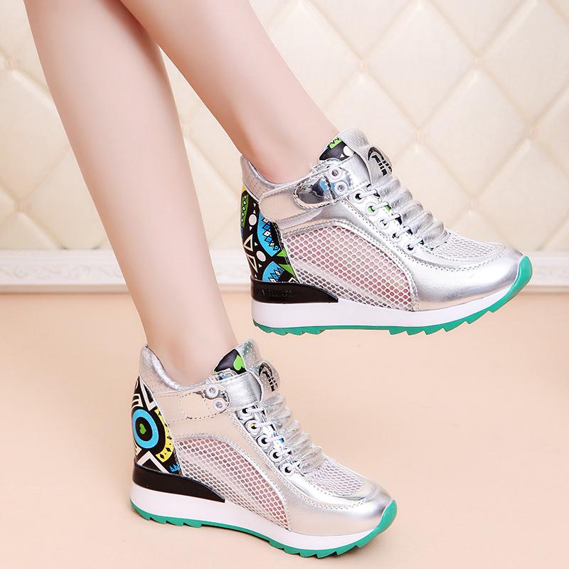 รองเท้าผ้าใบ Velcro ตาข่ายระบายอากาศ