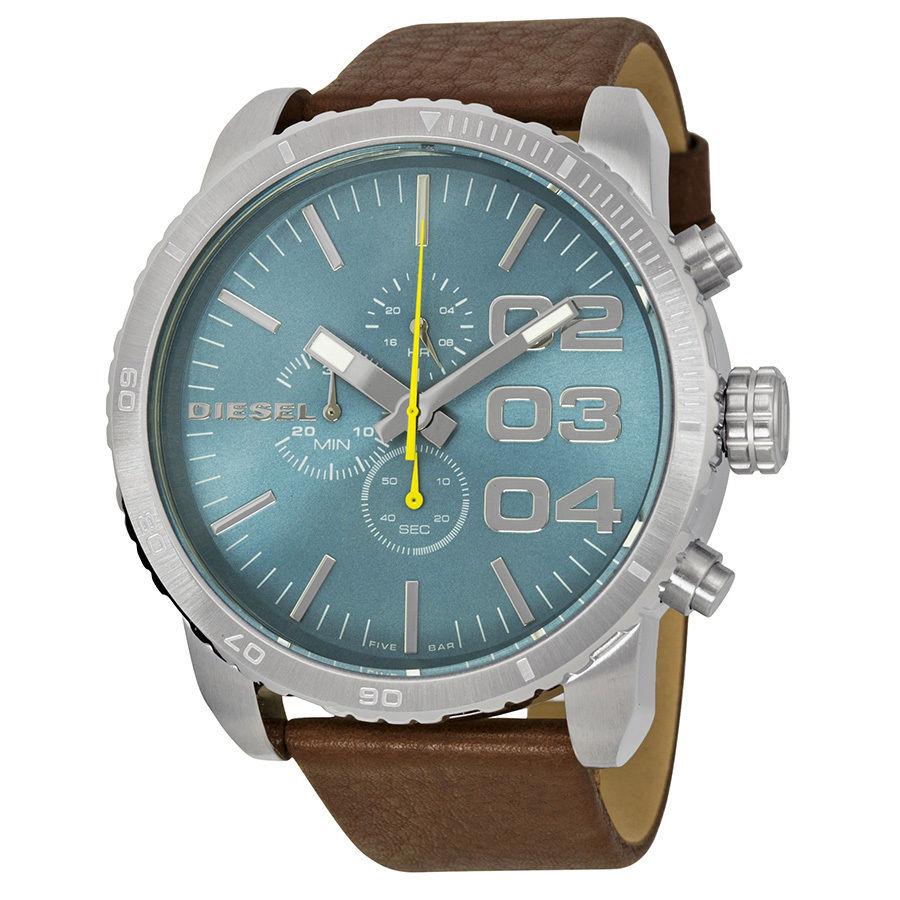 นาฬิกาผู้ชาย Diesel รุ่น DZ4330, Double Down Chronograph Brown Leather