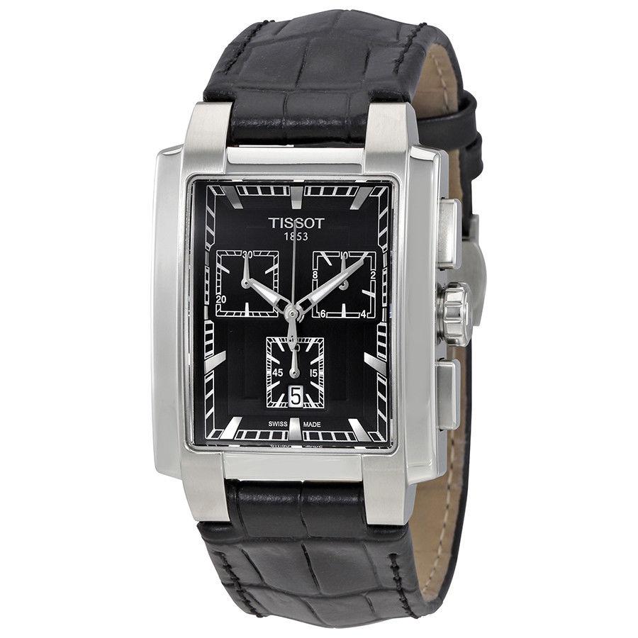 นาฬิกาผู้ชาย Tissot รุ่น T0617171605100, Classic TXL Chronograph Black Dial Black Leather Men's Watch
