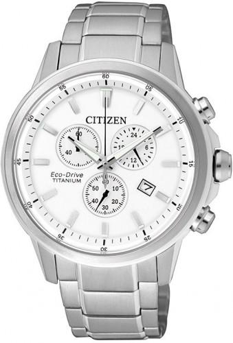 นาฬิกาข้อมือผู้ชาย Citizen Eco-Drive รุ่น AT2340-81A, Chronograph Super Titanium Sapphire