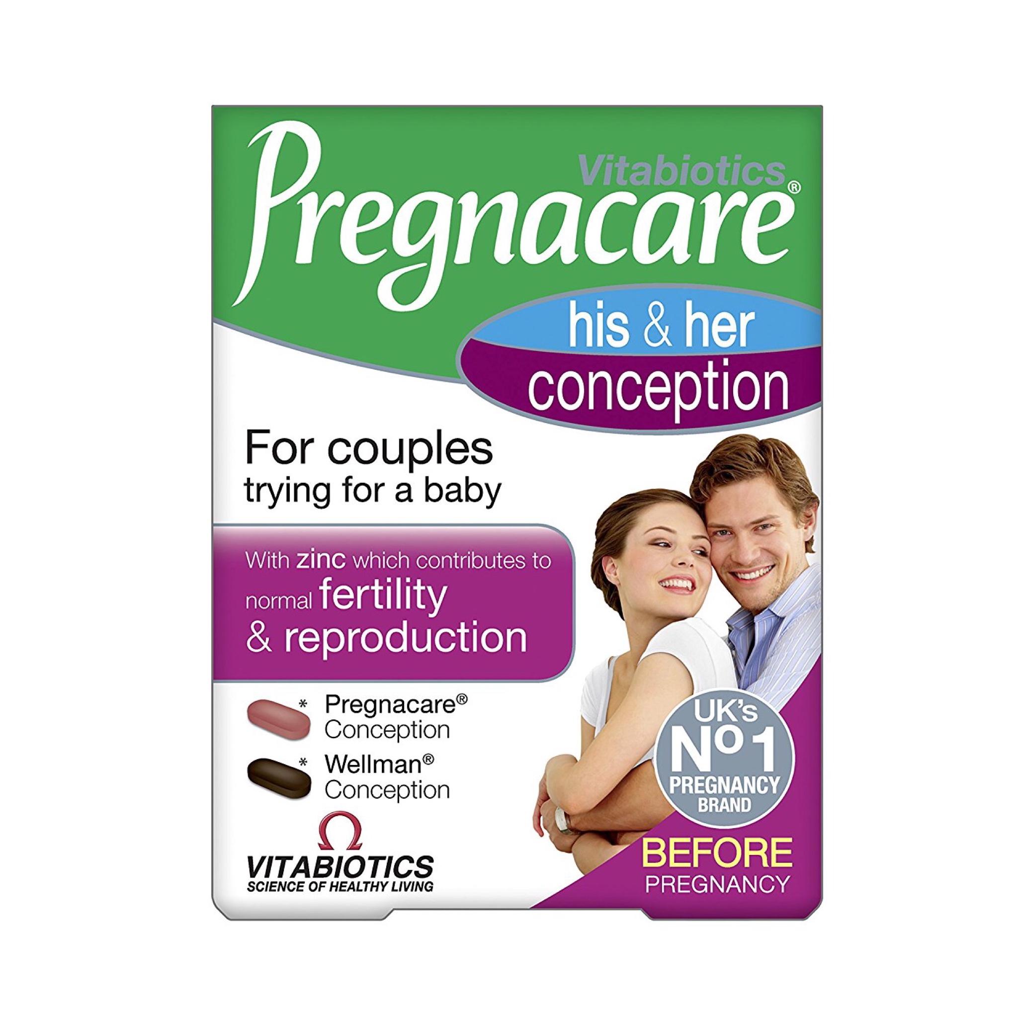 วิตามินช่วยเพิ่มโอกาสในการตั้งครรภ์ Vitabiotics Pregnacare His & Her Conception