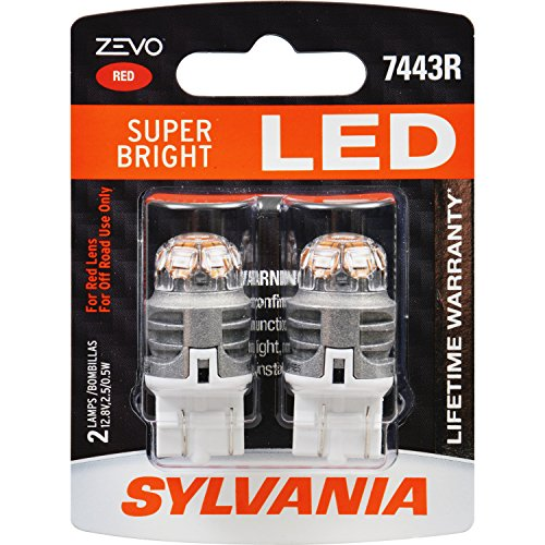 W21/5W Sylvania ZEVO Super Bright LED RED ส่งฟรี EMS