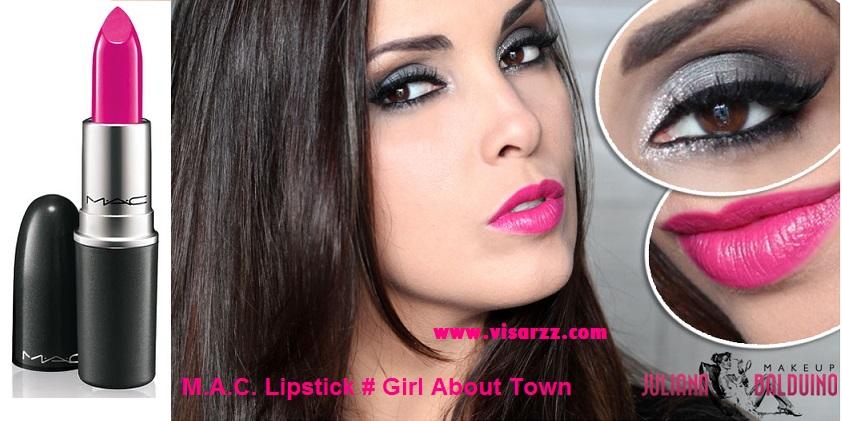 MAC Amplified Cream Lipstick Girl About Town 3 g (ขนาดปกติ) ลิปสติกสีชมพูสดแสนสวย เพิ่มความสดใสให้กับชีวิตได้เลยค่ะ