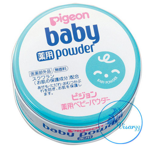 Pigeon Baby Powder 150g กระปุกสีฟ้า แป้งฝุ่น ไม่มีสี ไม่มีกลิ่น เหมาะกับผิวทุกประเภท ไม่ระคายเคือง ไม่ก่อให้เกิดสิว ใช้ได้ทุกวัย