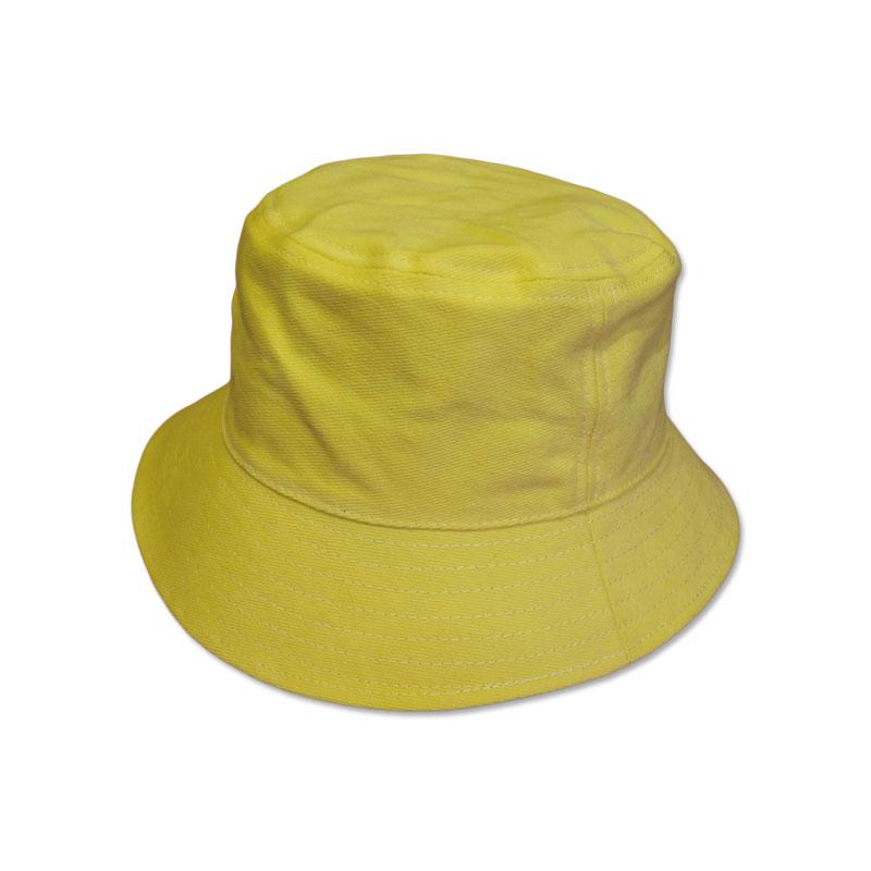 หมวก Bucket ปีกรอบ สีพื้น (สีเหลือง) by Season Tales