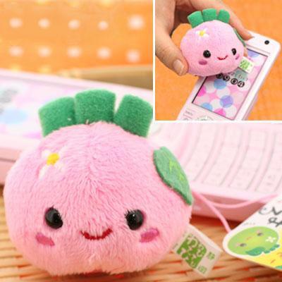 ที่ห้อยมือถือสำหรับเช็ดหน้าจอ Wabisabi Wasabi-Maru Screen Cleaning Plush Cell Phone Charm (Pink) สำหรับเช็ดหน้าจอมือถือให้ดูเงาเหมือนใหม่