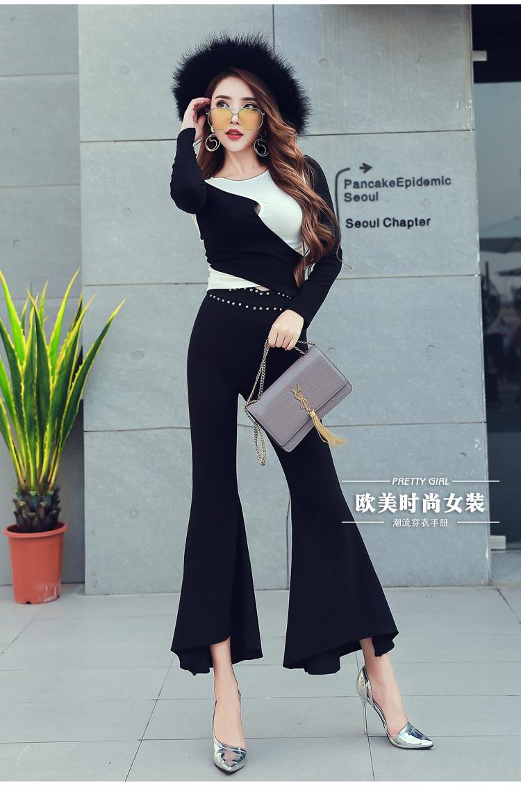 กางเกงขาม้าผู้หญิงสีดำ