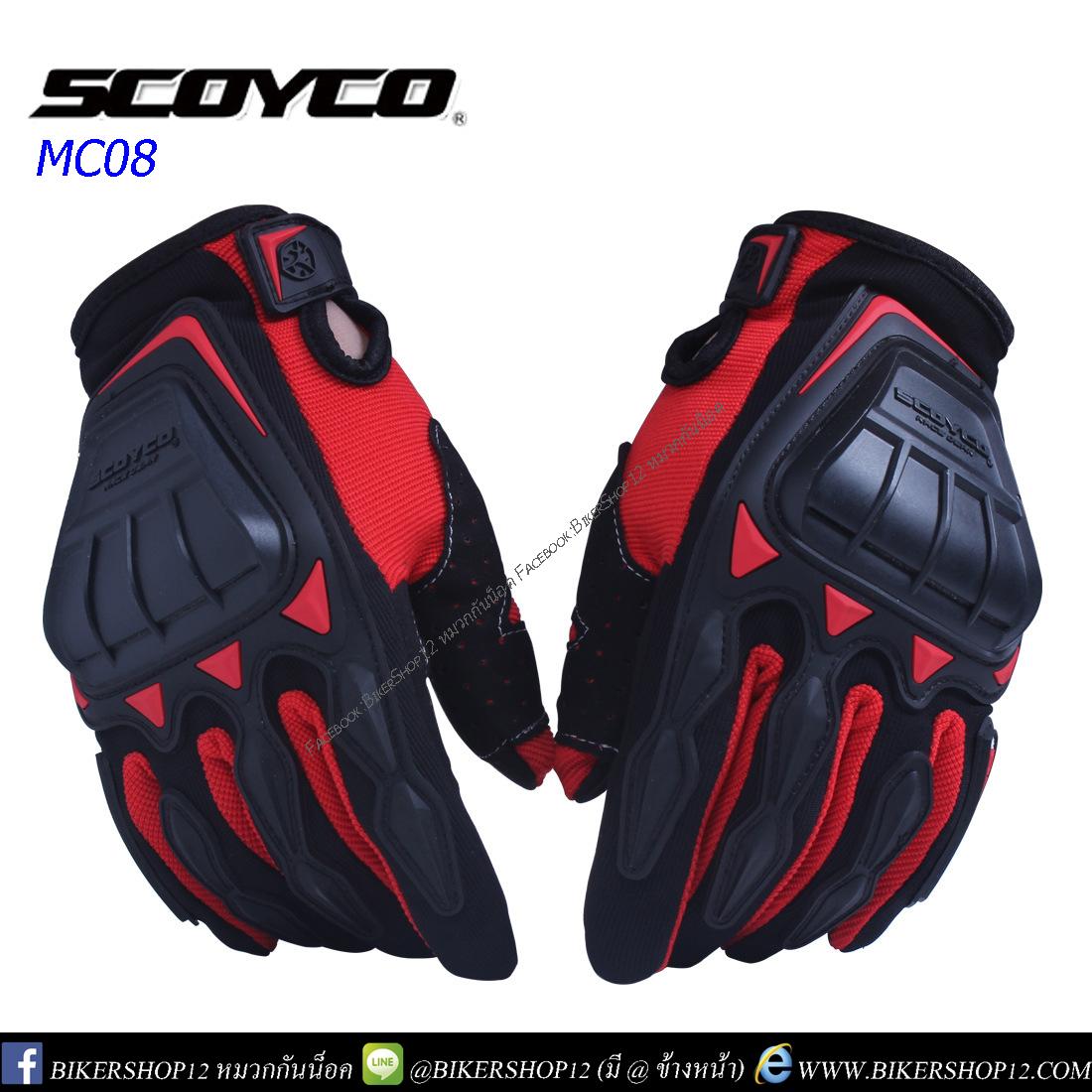 ถุงมือ SCOYCO MC08 สีแดง
